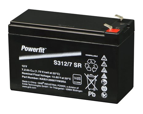EXIDE powerfit Batterie 12V/7Ah(C20)