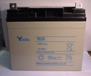YUASA-Batterie 12V/33 Ah(C20)