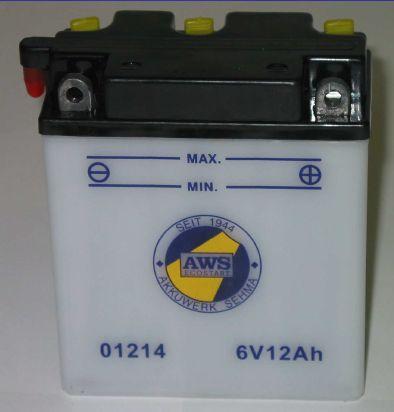 Motorradbatterie 6V/12 Ah(C20)