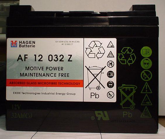 AGM wartungsfr. Blockbatterie 12V/32Ah(C5)