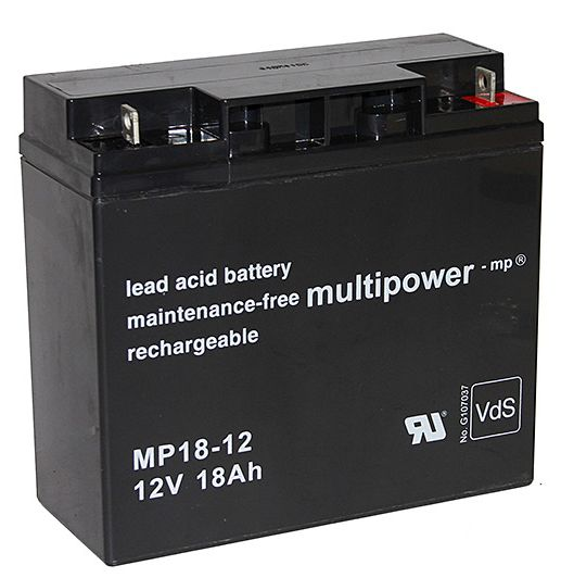 multipower Batterie 12V/18 Ah(C20)