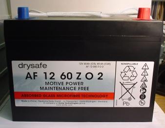 Antriebsbatterie Bleivlies 12V/60 Ah(C5)