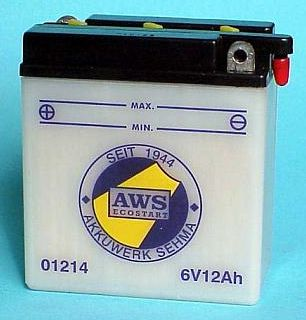 Motorradbatterie 6V/12Ah(C20)