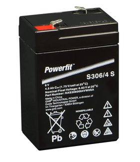 EXIDE Powerfit 6V/4 Ah(C20)