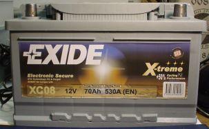 EXIDE X-TREME-Starterbatterie 12V/70Ah(C20)