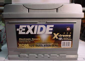 EXIDE X-TREME-Starterbatterie 12V/60Ah(C20)