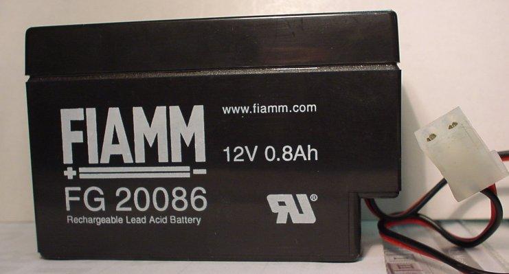 FIAMM verschlossene Batterie 12V/0,8 Ah