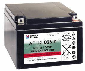 Wartungsfr. Bleivliesbatterie 12V/26 Ah(C5)