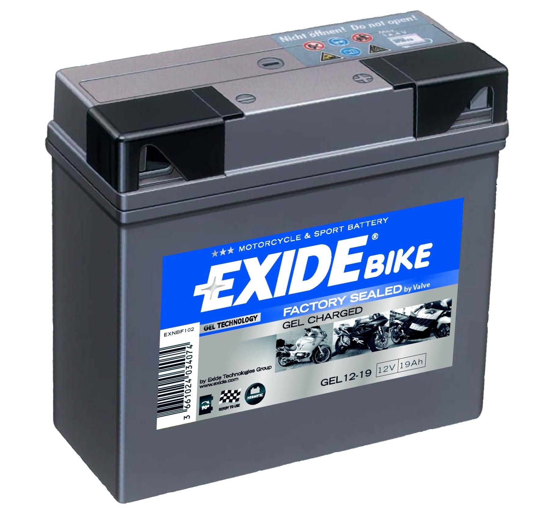 EXIDE gel Batterie 12V/19 Ah(C20)