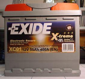 EXIDE X-TREME-Starterbatterie 12V/55Ah(C20)