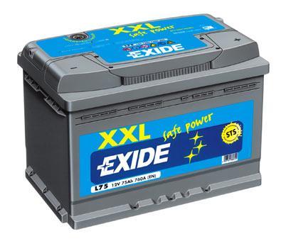 exide starterbatterie 12v 75 ah batterie ecke. Black Bedroom Furniture Sets. Home Design Ideas