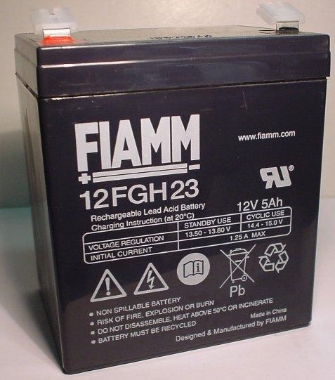 FIAMM verschlossene Bleibatterie 12V/5 Ah