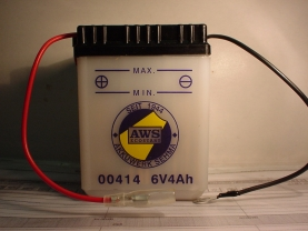 Motorradbatterie 6V/4 Ah(C20)