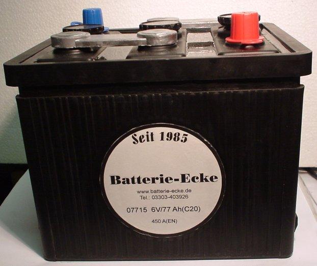 Starterbatterie 6V/77Ah(C20)