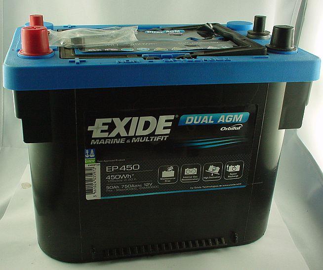 EXIDE Dual AGM 12V/50 Ah(C20)