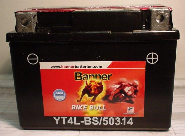 Motorradbatterie 12V/3Ah(C20)