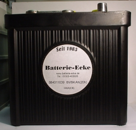 Starterbatterie 6V/84Ah(C20)