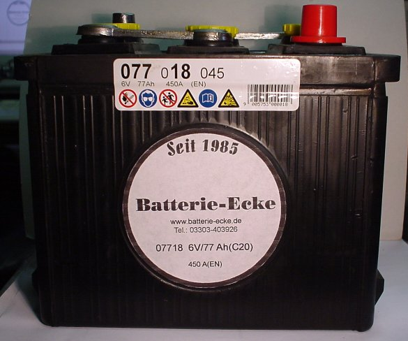 Starterbatterie 6V/77 Ah(C20)