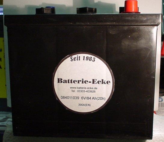 Starterbatterie 6V/84 Ah(C20)