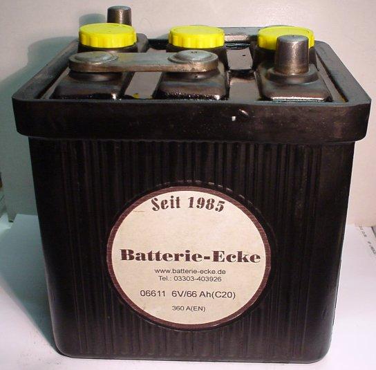 Starterbatterie 6V/66Ah(C20)