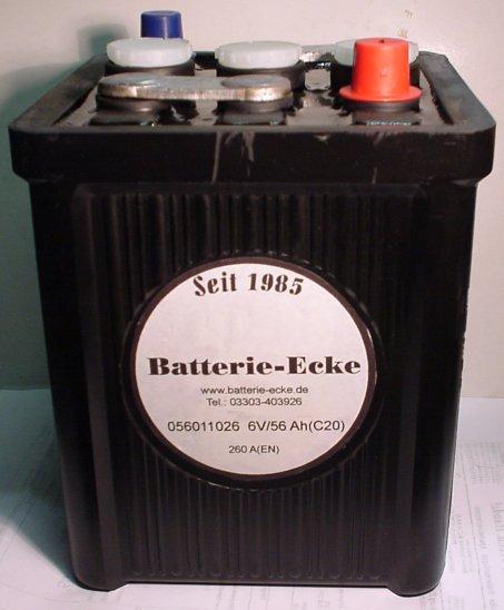 Starterbatterie 6V/56Ah(C20)