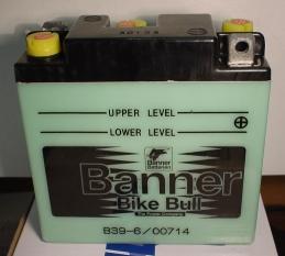 Motorradbatterie 6V/7 Ah(C20)