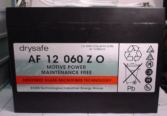 AGM wartungsfr. Blockbatterie 12V/60Ah(C5)