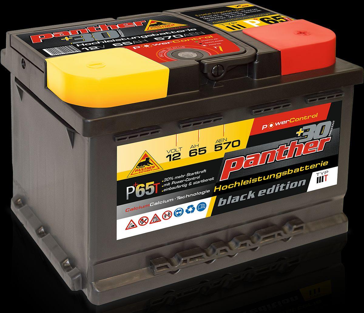 panther p 65t 12v 65ah batterie ecke batterieservice. Black Bedroom Furniture Sets. Home Design Ideas