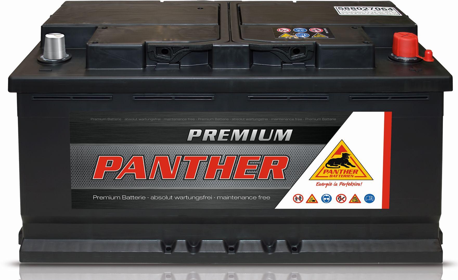starterbatterie panther premium 58827 12v 88ah batterie. Black Bedroom Furniture Sets. Home Design Ideas