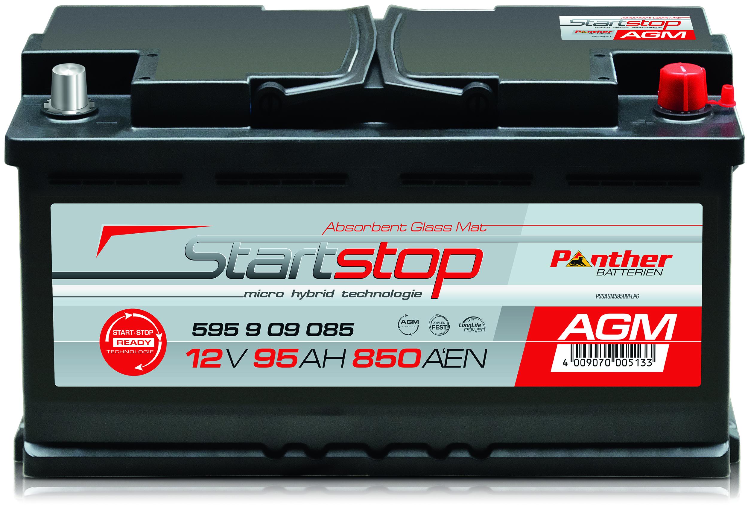 panther start stopp agm 59509 12v 95 ah batterie ecke. Black Bedroom Furniture Sets. Home Design Ideas